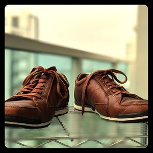Hugo Boss Calfskin Sneakers.